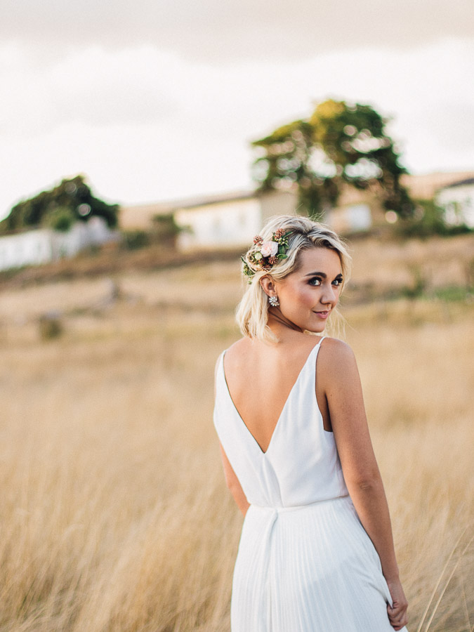 The styling shed stellenbosch bride in janita torien